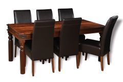Large Jali Dining Table & 6 Madrid Chairs