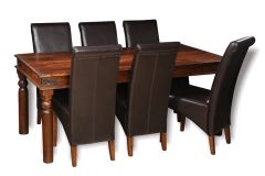 Jali 180cm Dining Table & 6 Rollback Chairs