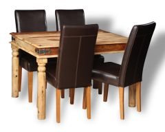 Small Jali Light Dining Table & 4 Barcelona Chairs