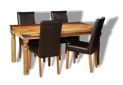 Jali Light Dining Table & 4 Barcelona Chair
