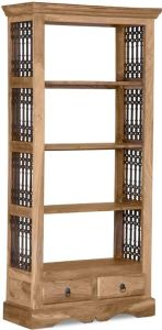 Jali Natural 2 Drawer Bookcase