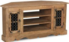 Jali Natural Corner TV Unit