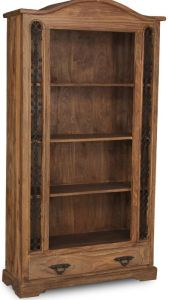 Jali Natural 1 Drawer Bookcase
