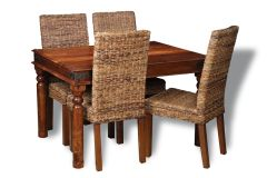 Jali 120cm Dining Table & 4 Havana Chairs