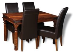 Jali 120cm Dining Table & 4 Madrid Chairs