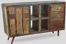 Large Recycled Retro Sideboard