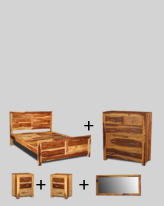 Medium King Size Light Cube Bedroom Package