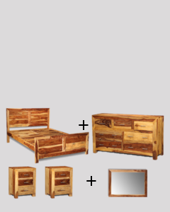 Large King Size Light Cube Bedroom Package