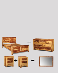 Large King Size Light Cuba Bedroom Package