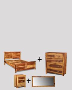 Double Cuba Light Bedroom Package