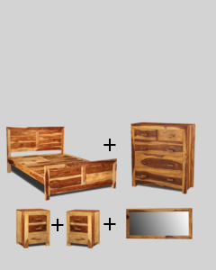 Medium Super King Size Light Cuba Bedroom Package