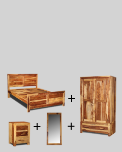 Extra Large King Size Cuba Light Bedroom Package