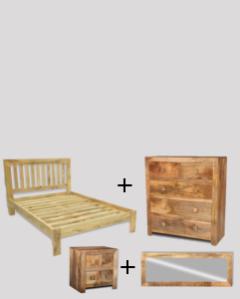 Small Double Size Light Dakota Bedroom Package