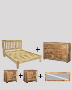 Large Double Size Light Dakota Bedroom Package