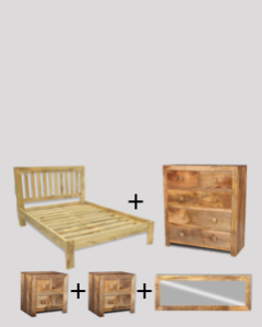 Medium Double Size Dakota Light Bedroom Package