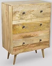 Light Retro Chic Chest Of Drawers