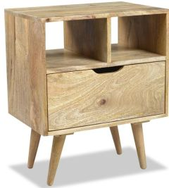 Light Retro Mango Bedside Table