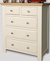 Lyon White Painted Oak Chest of Drawers