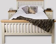 Lyon White Painted Oak Double Bed