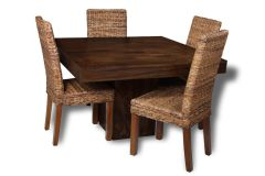 Mango 120cm Dining Table & 4 Havana Chairs