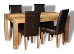 Mango Light 160cm Dining Table & 4 Barcelona Chairs