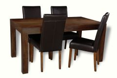 Mango 160cm Dining Table & 4 Barcelona Chairs