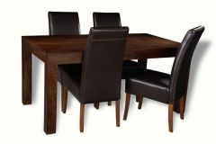 Mango 160cm Dining Table & 4 Madrid Chairs