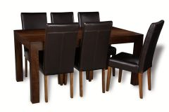 Mango 160cm Dining Table & 6 Barcelona Chairs