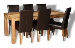 Mango Light 180cm Dining Table & 6 Barcelona Chairs