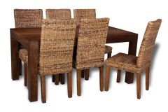 Mango 180cm Dining Table & 6 Havana Chairs
