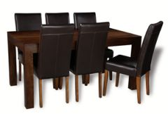 Mango 180cm Dining Table & 6 Barcelona Chairs