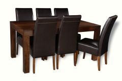 Mango 180cm Dining Table & 6 Madrid Chairs