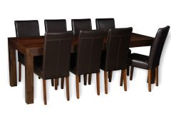Mango 220cm Dining Table & 8 Barcelona Chairs