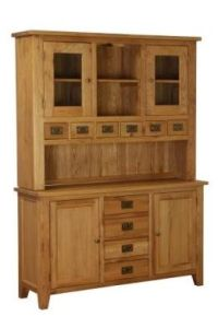 Atlanta 2 Drawer 4 Drawer 2 Door Large Buffet /w Hutch