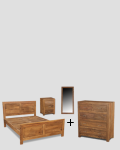 Small King Size Cube Natural Bedroom Package