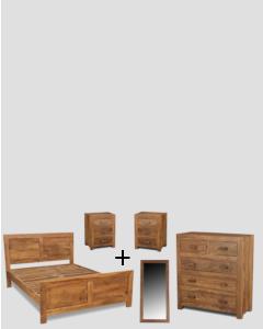 Medium King Size Natural Cuba Bedroom Package