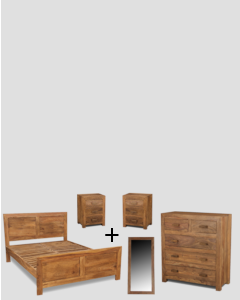 Medium Double Cuba Natural Bedroom Package