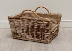 Rattan Rectangular Log Basket