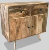 Light Retro Chic Small Sideboard