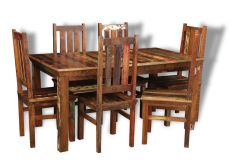 Reclaimed Indian Medium Table and 6 Chairs