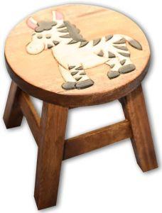 Reclaimed Teak Children's Stool (Zebra)