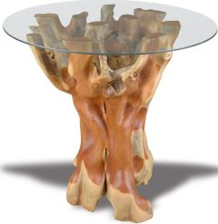 Round Teak Root Dining Table