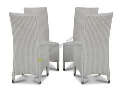 Lloyd Loom White Madera Dining Chairs x4