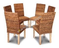 Set of 6 Havana Rattan Dining Chairs
