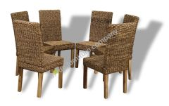 Set of 6 Havana Rattan Chairs