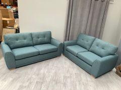 Set of 2 Blue 2 Seater Sofas (SL631)