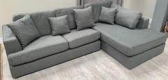 L Shaped Grey Sofa (SL633)