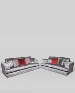 Set of 2 Glitz Silver Sofas
