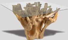 Teak Root Square Dining Table