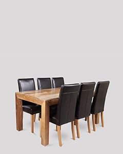 Dakota Light 180cm Dining Table & 6 Barcelona Chairs